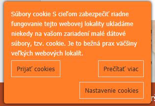Nastavenie Cookies