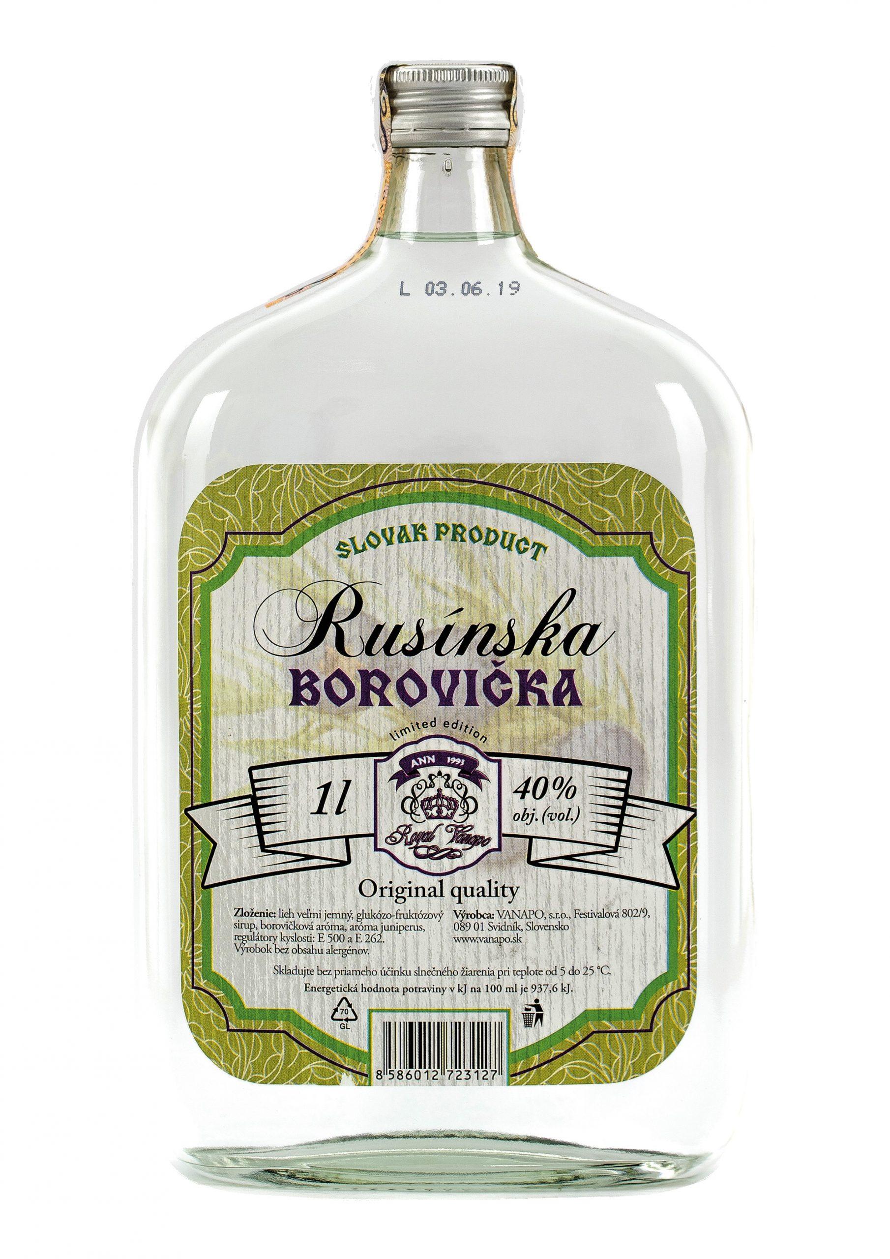 Borovicka Rusinska 40 1L scaled 1 - Rusínska Borovička Royal
