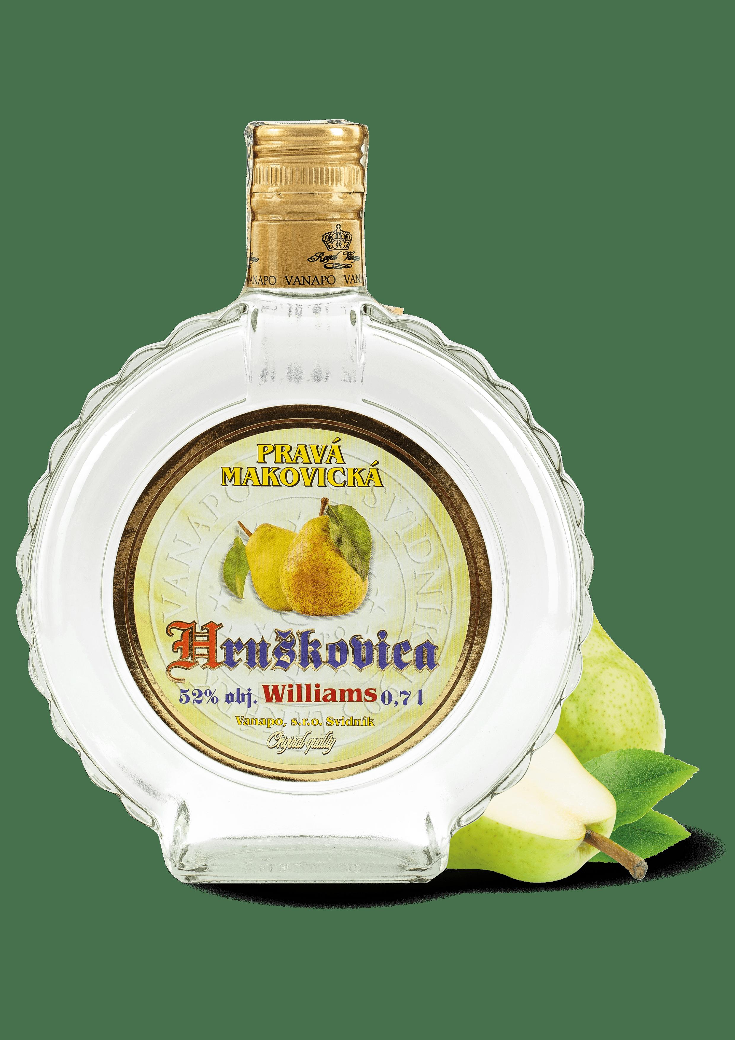 Destilaty2 min - Pravá Mak. hruškovica WILLIAMS