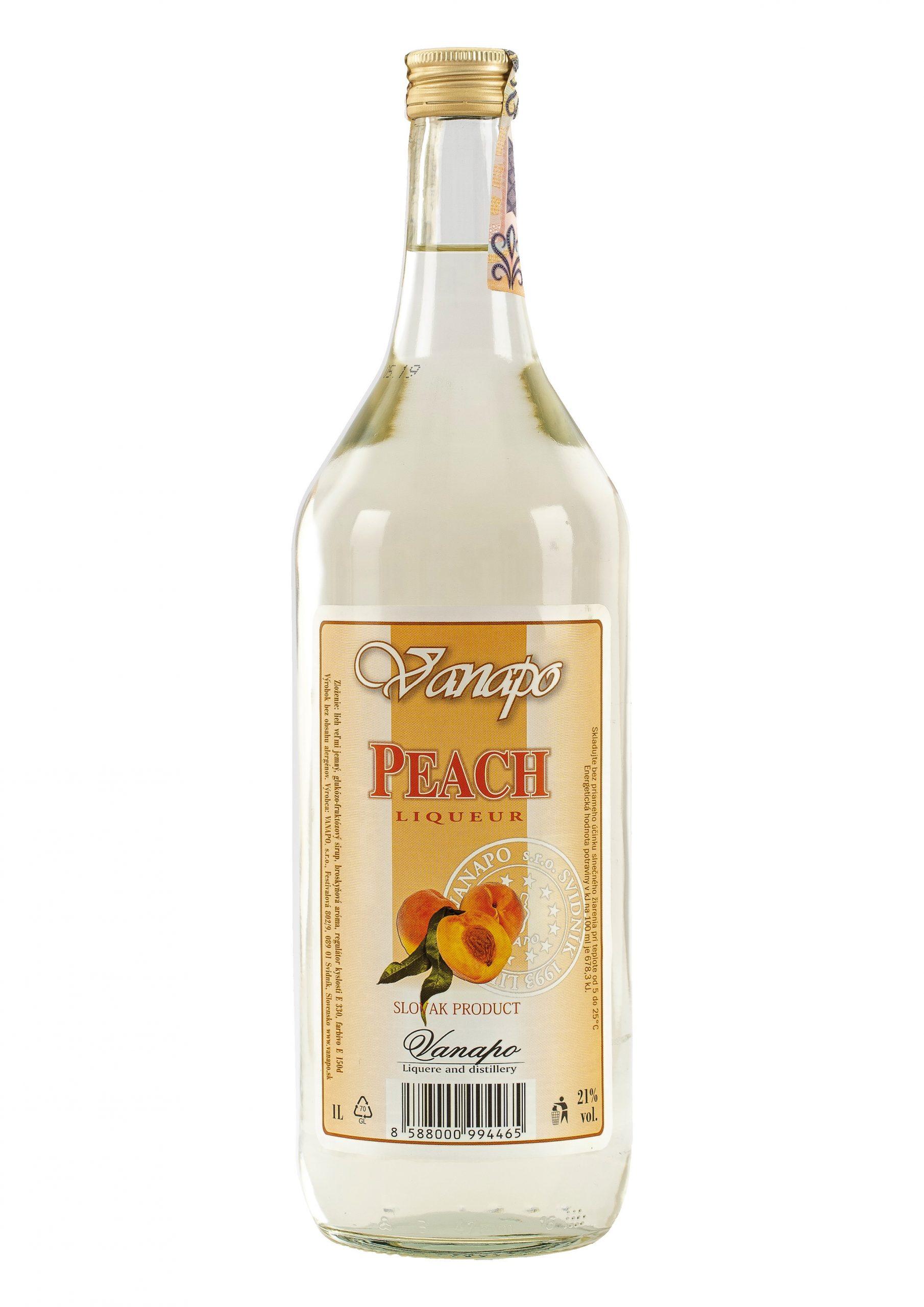 Peach liker 21 1L scaled 1 - Peach likér