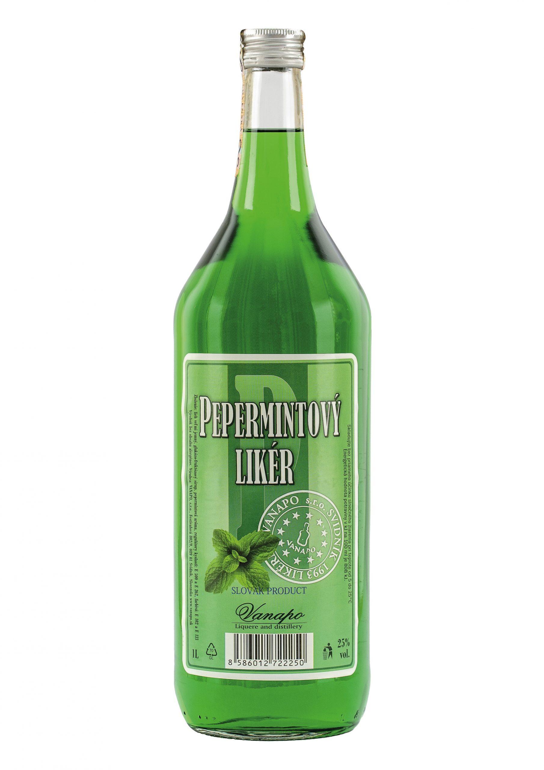 Pepermintovy liker 25 1L scaled 1 - Pepermint likér
