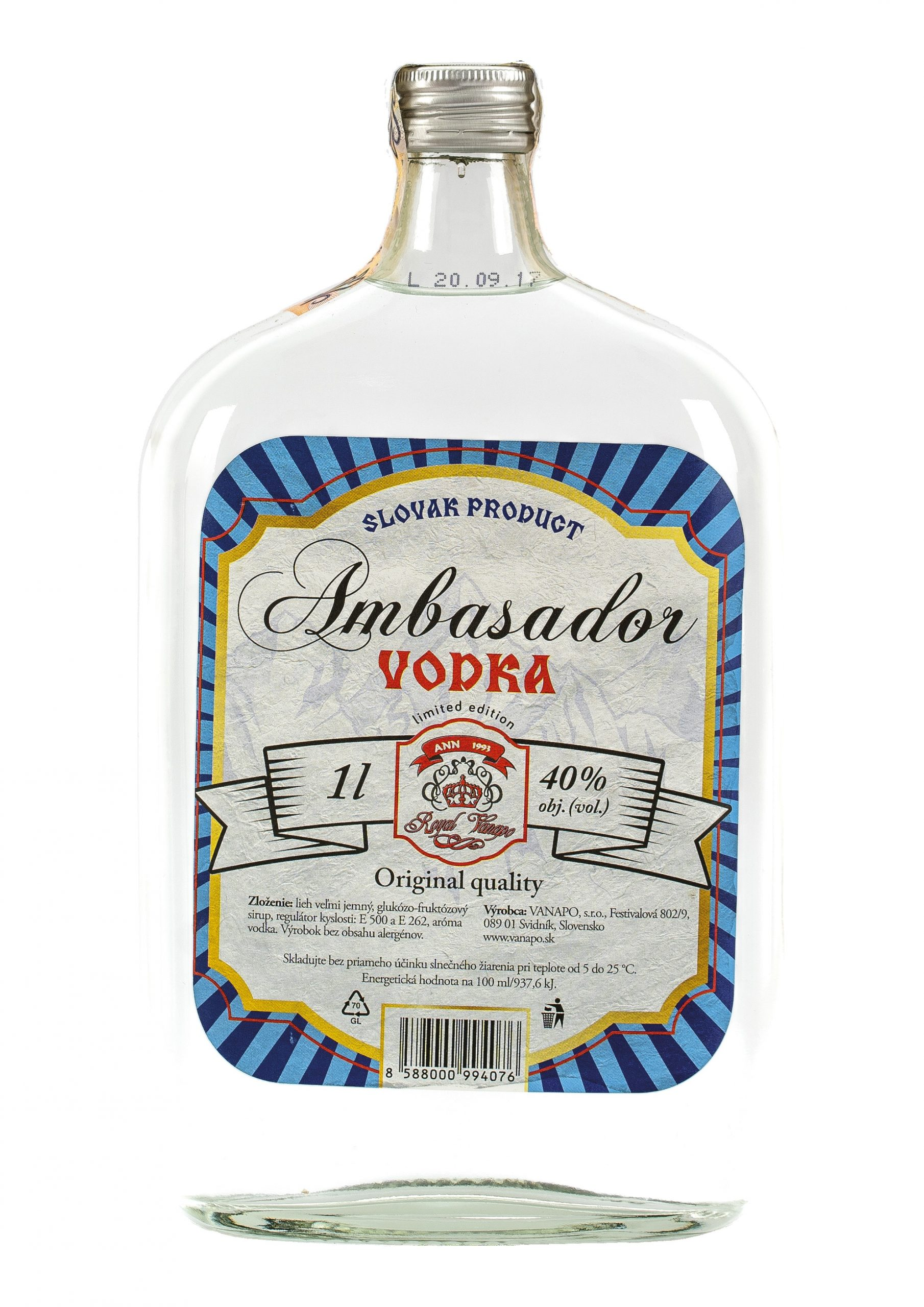 Vodka RETRO 40 1L scaled 1 - Ambasador Vodka Royal
